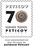 Selo comemorativo dos 70 anos de Antônio Peticov